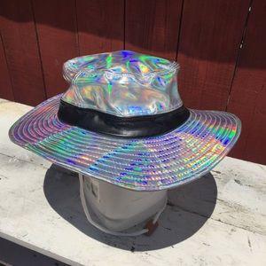 2c8db3797 Holographic hat rave festival cap bucket safari